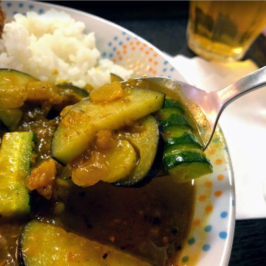 コロッケのマルヤ野菜カレー
